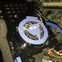 HDDの冷却FAN部分のほこり